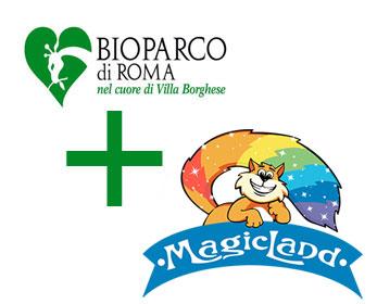 banner offerta soggioeno + magicland + bioparco roma