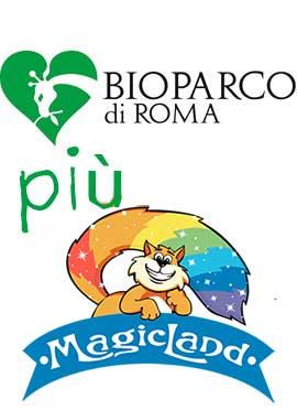 banner offerta soggiorno + magicland + bioparco roma