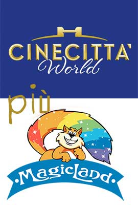 banner promo cinecittà world + rainbow magicland + hotel