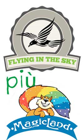 banner offerta flying in the sky + hotel + magicland