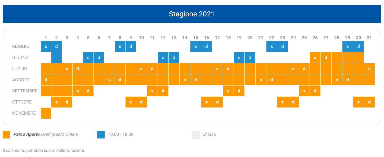 CALENDARIO MAGICLAND 2021