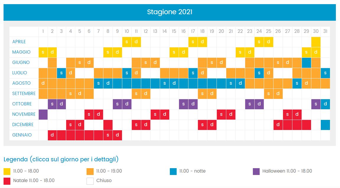 calendario 2021 cinecitta world