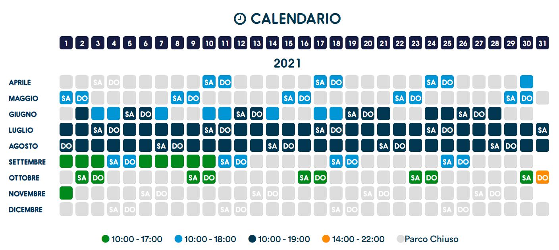 calendario zoomarine 2021